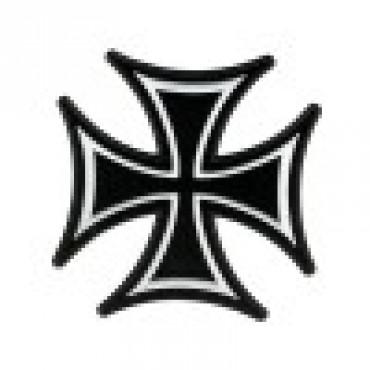 Skinny Iron Cross Patch 8x8