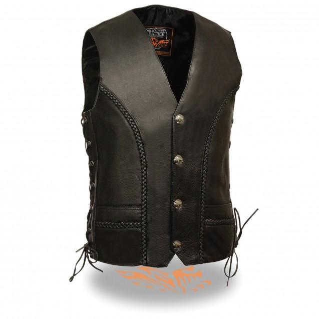 Men's Braided Side Lace Vest