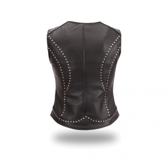 Women's Riveted Zip Front Vest