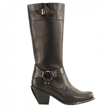 Women's High Harness Leather Boots