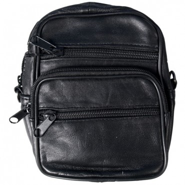 Black Leather Carry-All Bag