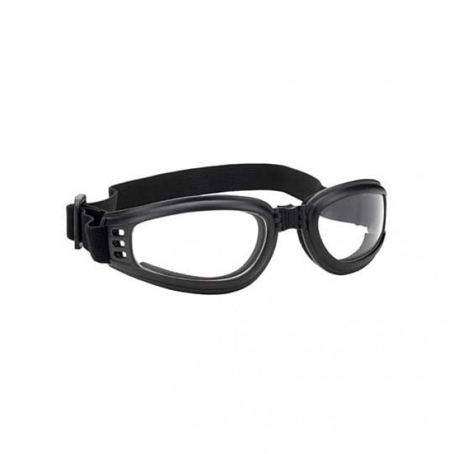 Foldable Black Goggles Clear Lens And UV 400 Protection