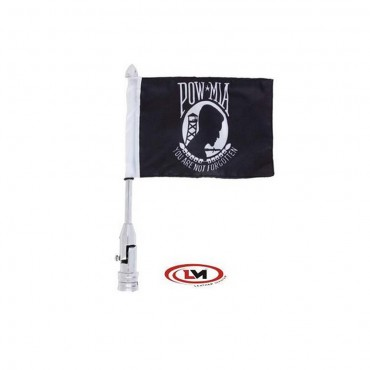 Motorcycle Flagpole Mount and POW MIA Flag